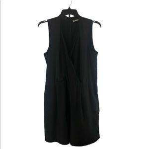 Halogen XL black romper shorts sleeveless black